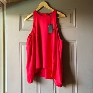 Lucca Couture Red Cold Shoulder Top